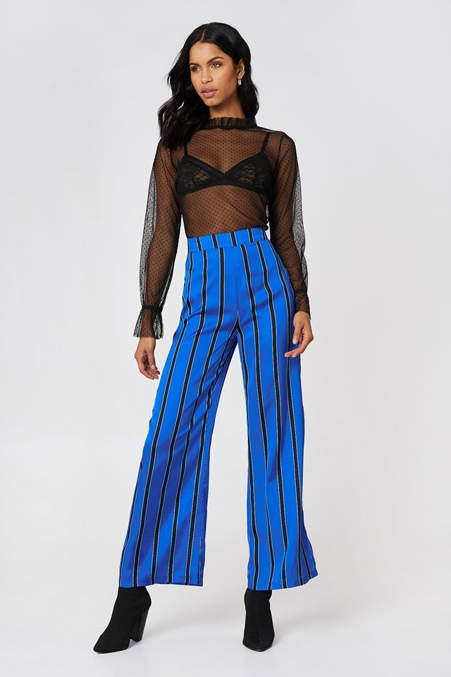 Mesh Top on Trousers Outfit
