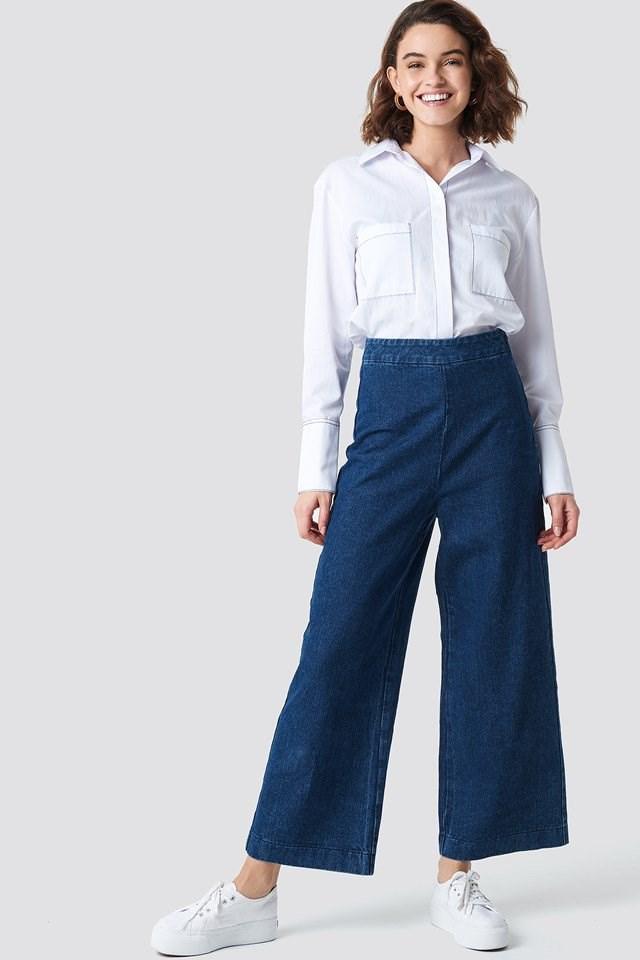 Classy Culotte Denim Pants
