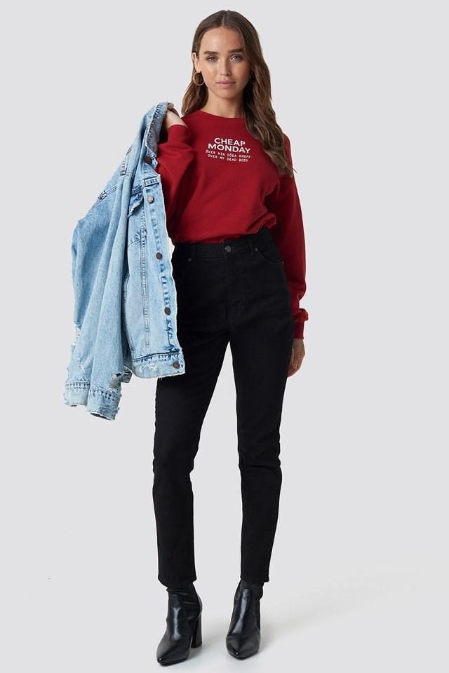 Donna Deep Black Jeans