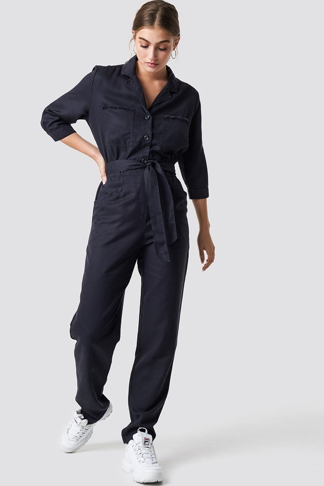 Casual Tie Waist Jumpsuit Outfit