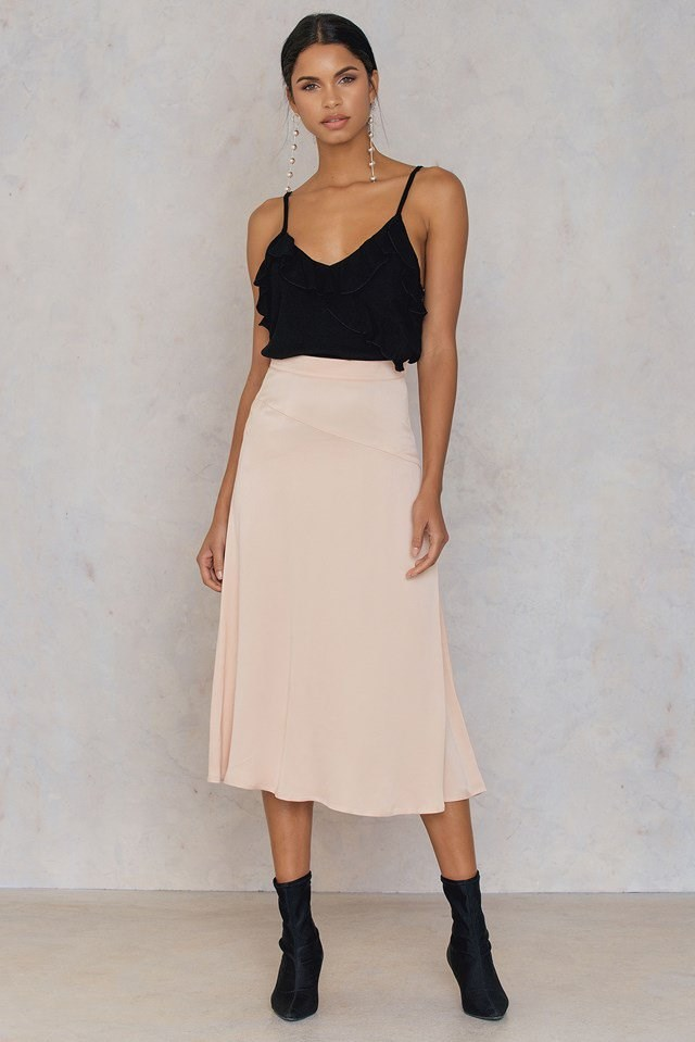 Wrap Front Frill Singlet