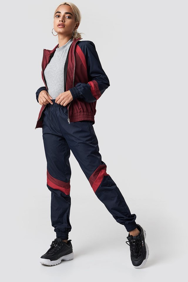 Navy Schemed Track Suit Outfit