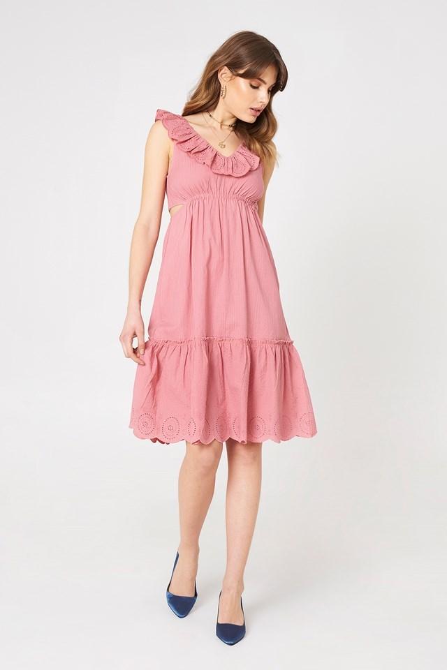 V Neck Cut Out Dress