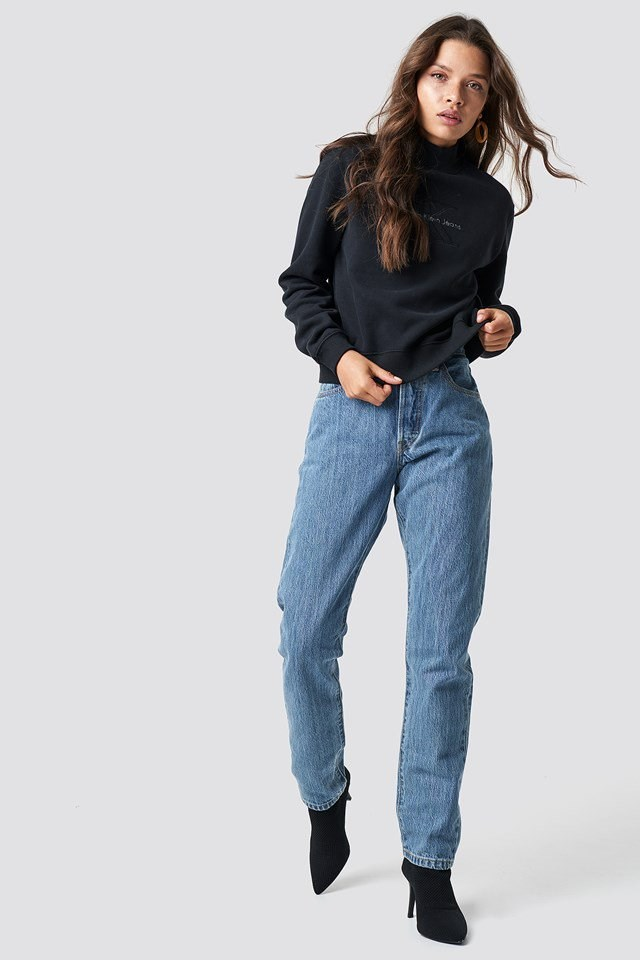 Black Sweater with Jeans Outfit.