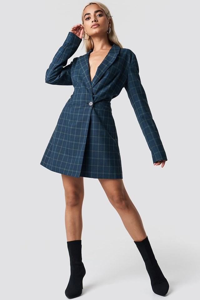 Blue Blazer Dress Outfit