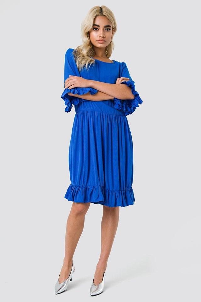 Buttoned Back Midi Dress