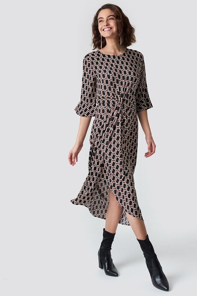 Midi Pattern Dress