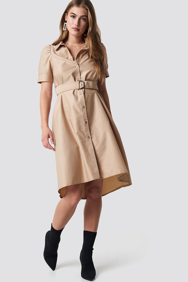 Belted Shirt Dress Outfit