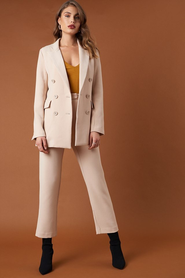 Relaxed Double Breasted Blazer and Relaxed Suit Pants