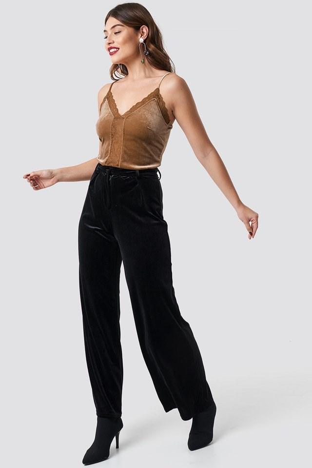 Velvet Lace Singlet Outfit
