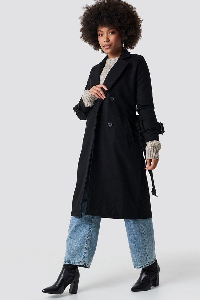 Denim and Trench Coat Outfit
