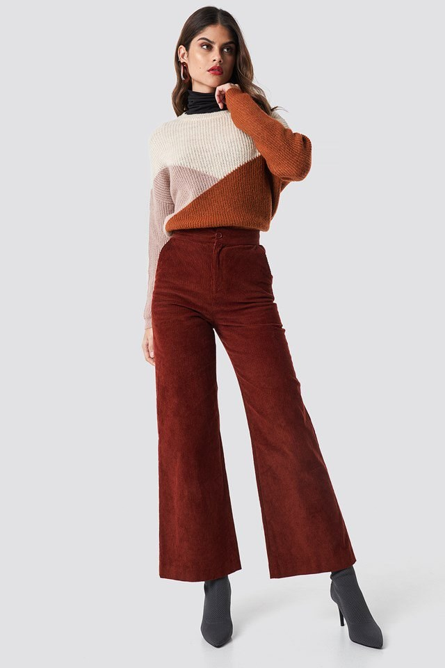 Knit and Corduroy Outfit