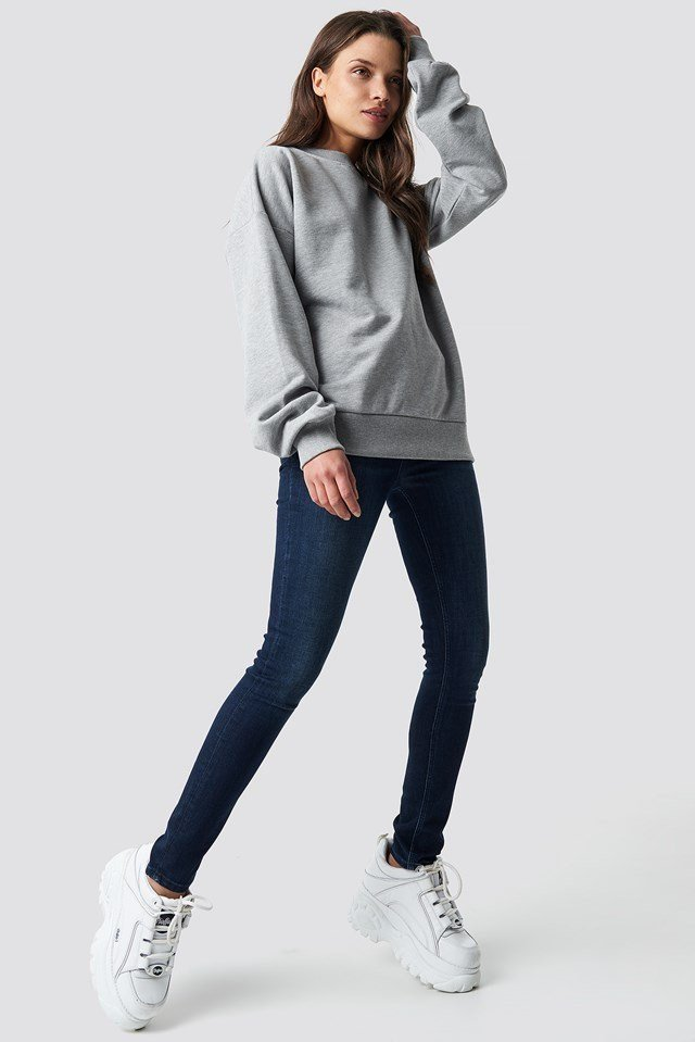 Basic Oversize Sweatshirt Grey Outfit