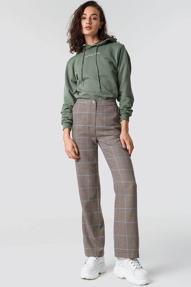 Stylish checkered suit pants outfit