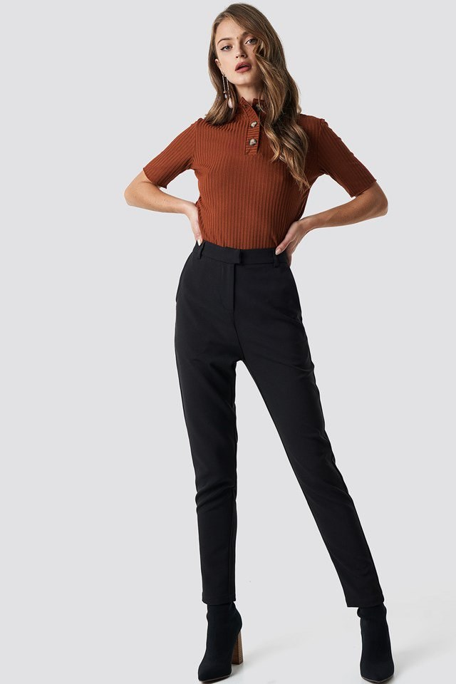 Classy tailored straight suit pants outfit