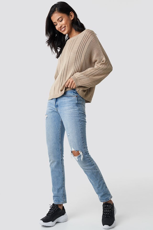 Milla knitted pullover outfit