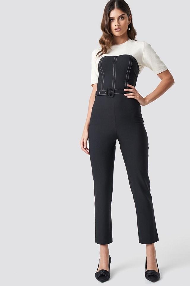 Corset jumpsuit outfit