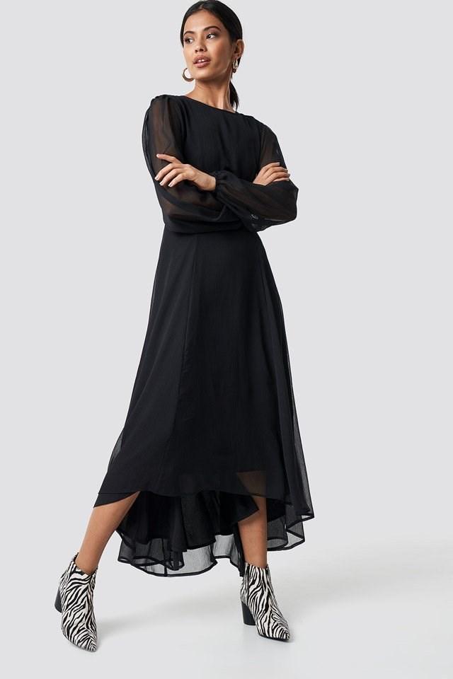Black Dress X Zebra Shoe Outfit