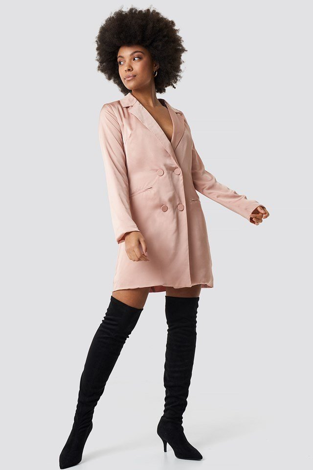 Pink Suit Dress Outfit