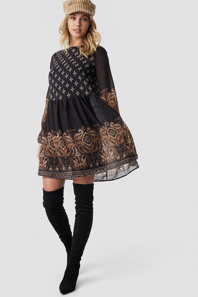 Multi Colored Midi Dress Outfit