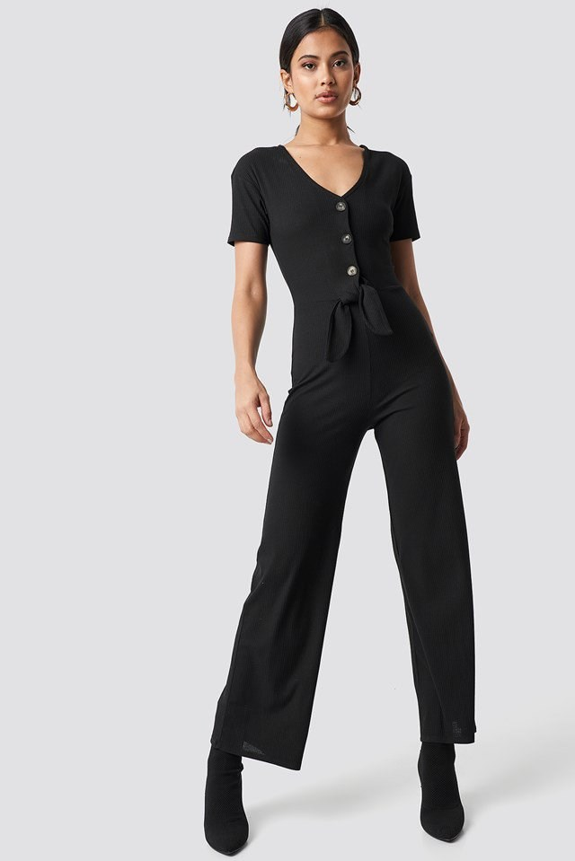 Tied Front Jumpsuit Outfit
