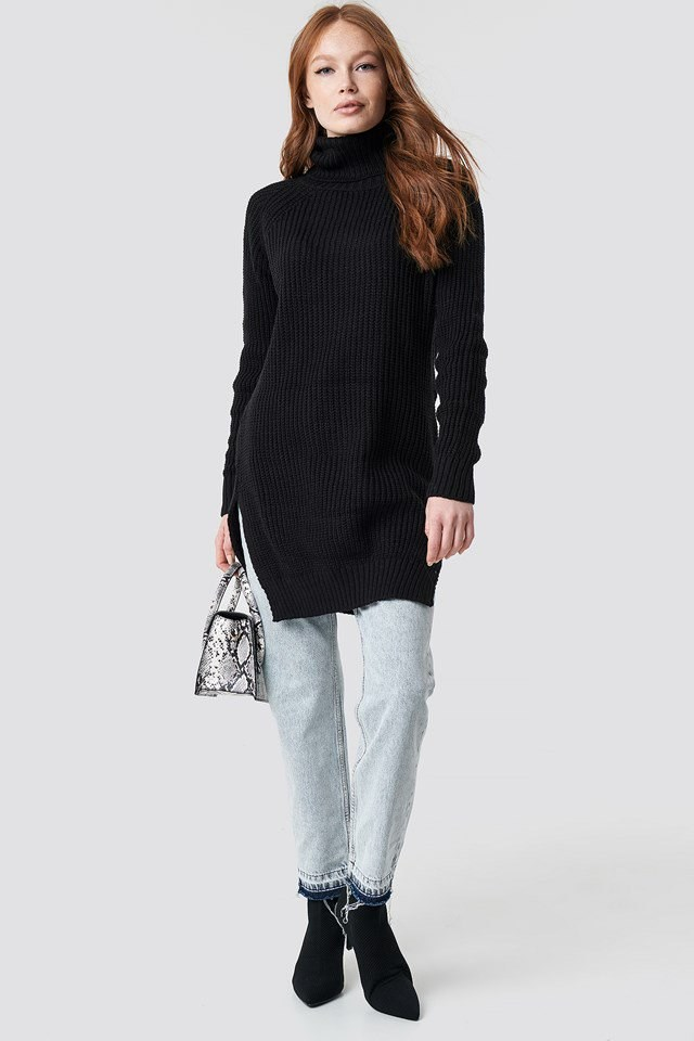 Long Knitted Sweater Outfit