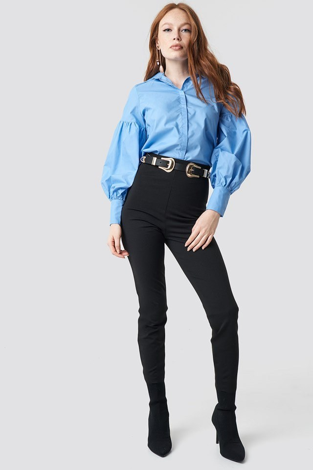 Milla Balloon Sleeve Shirt Outfit