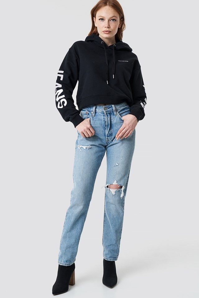Cropped Institutional Hoodie Outfit