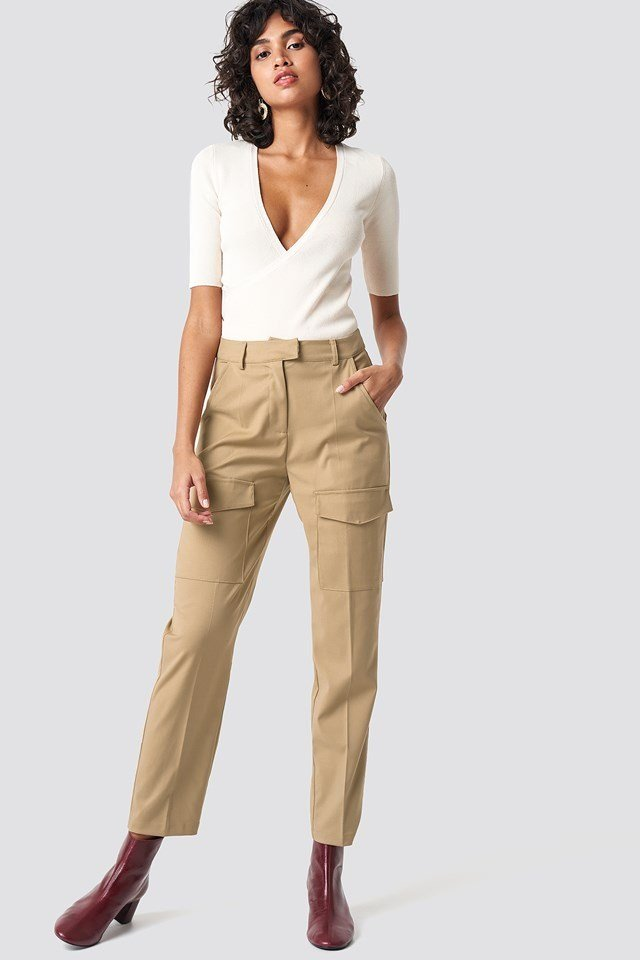 Patch Pocket Straight Pants Outfit