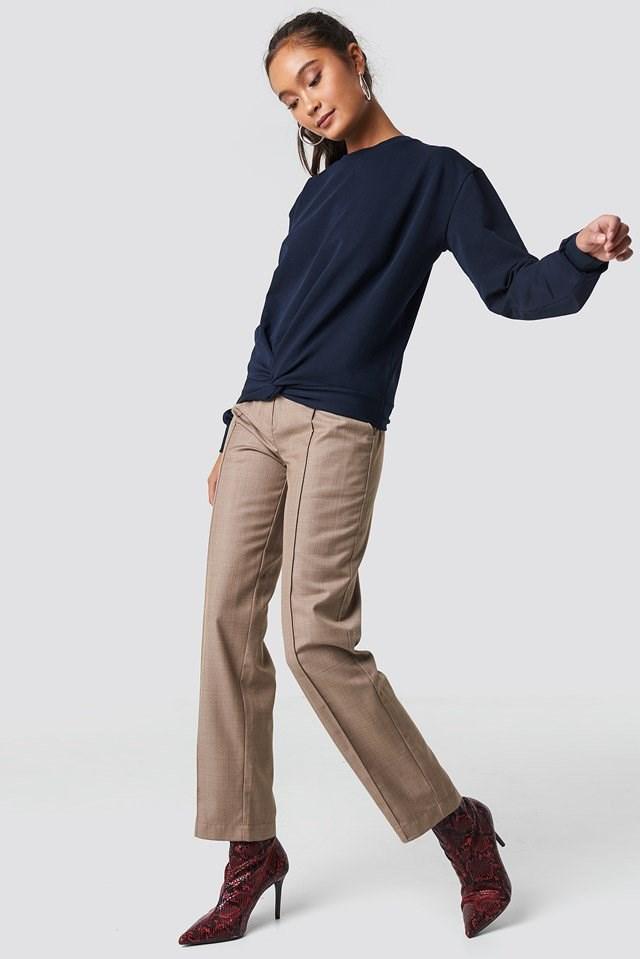 Navy Sweatshirt.