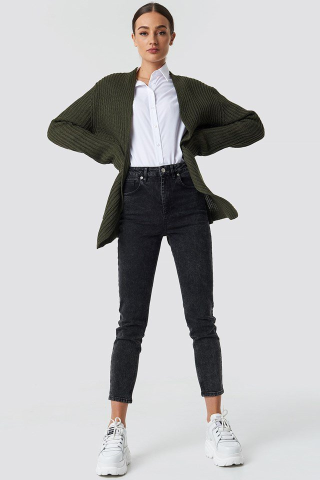 Green Cardigan Outfit