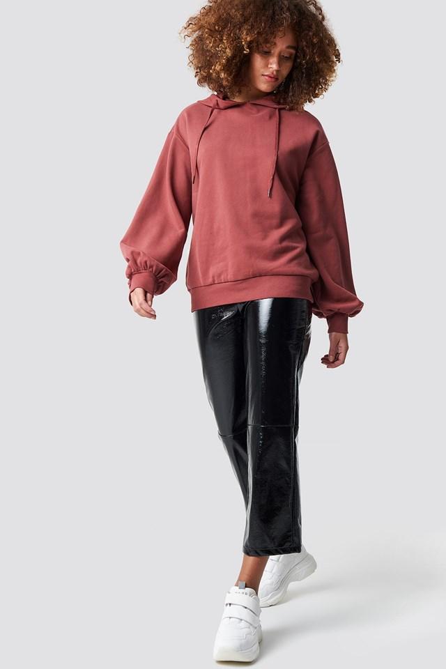 Ballon Sleeve Sweatshirt Outfit