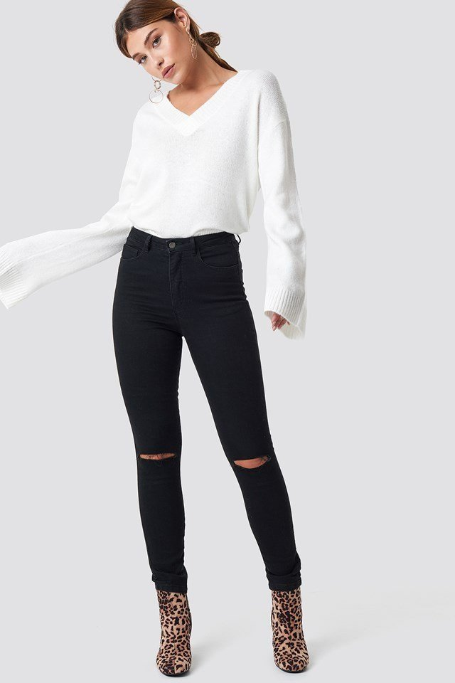 White Sweater Outfit