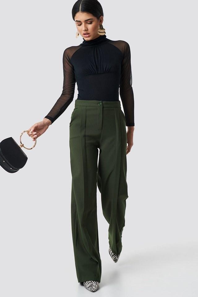 Elegant Mesh Top Outfit