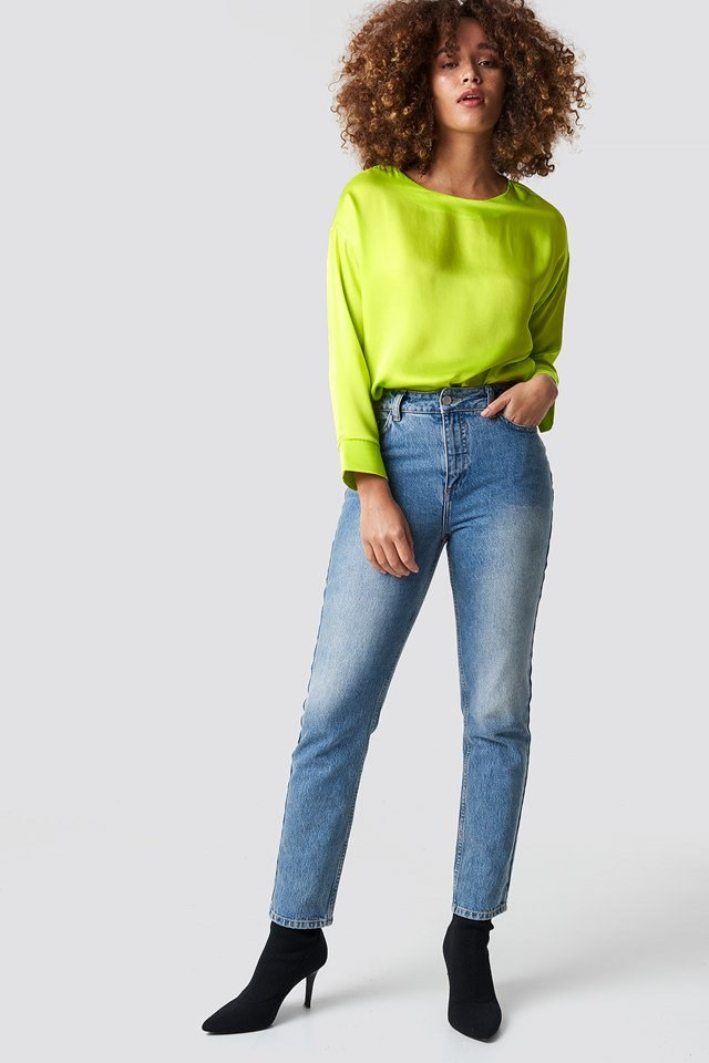 Neon Blouse Outfit