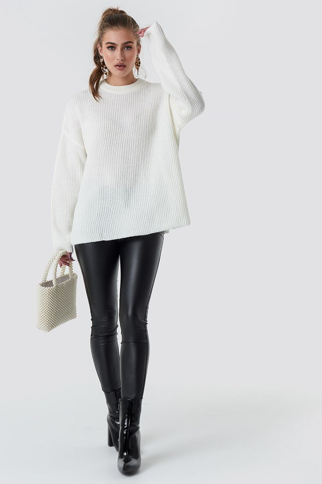 White Knit Outfit