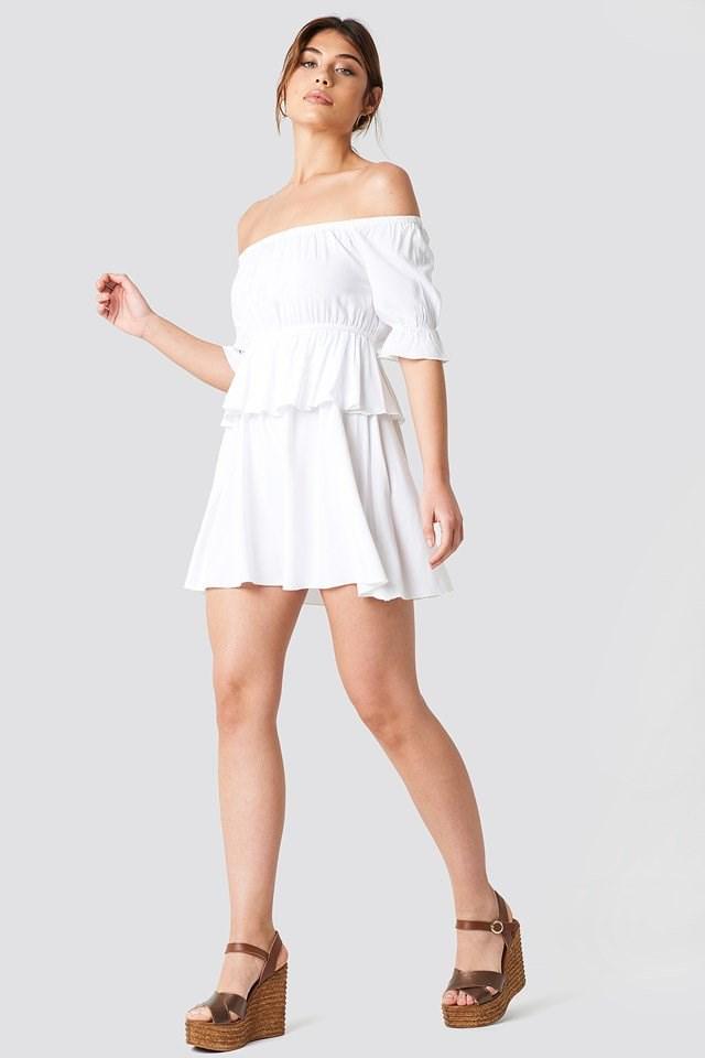Odd Shouler Mini Dress