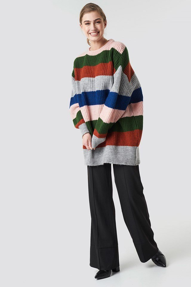 Color Blocked Sweater Outfit