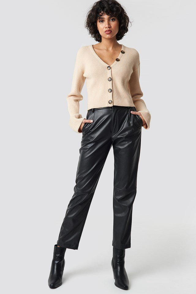 Buttoned Sweater Outfit