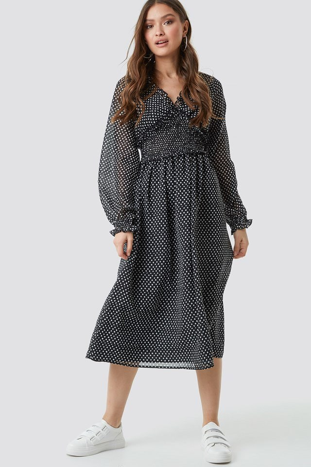 Smock Detail Dress outfit
