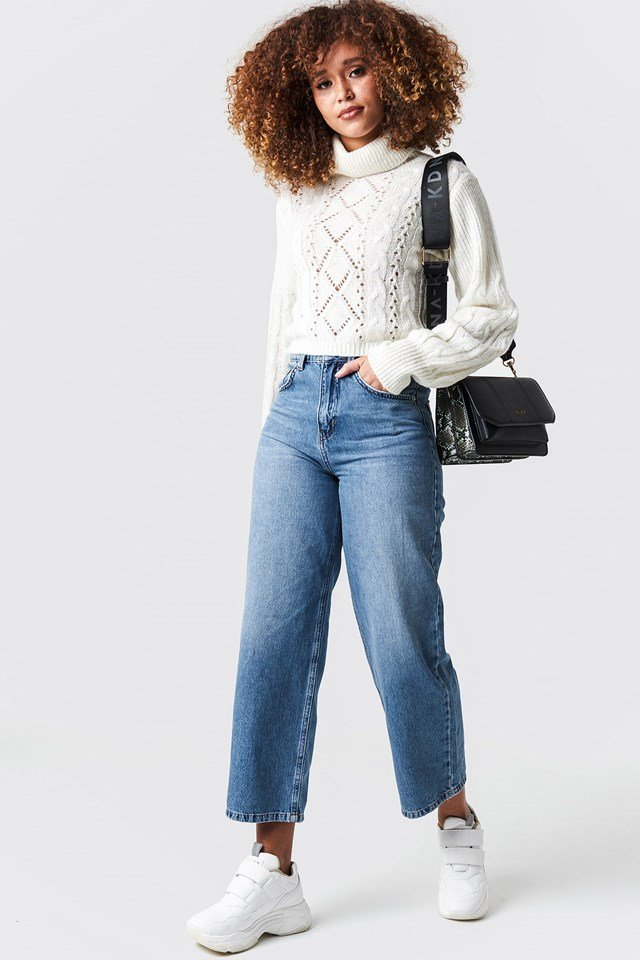 Knitted Short Sweater Outfit
