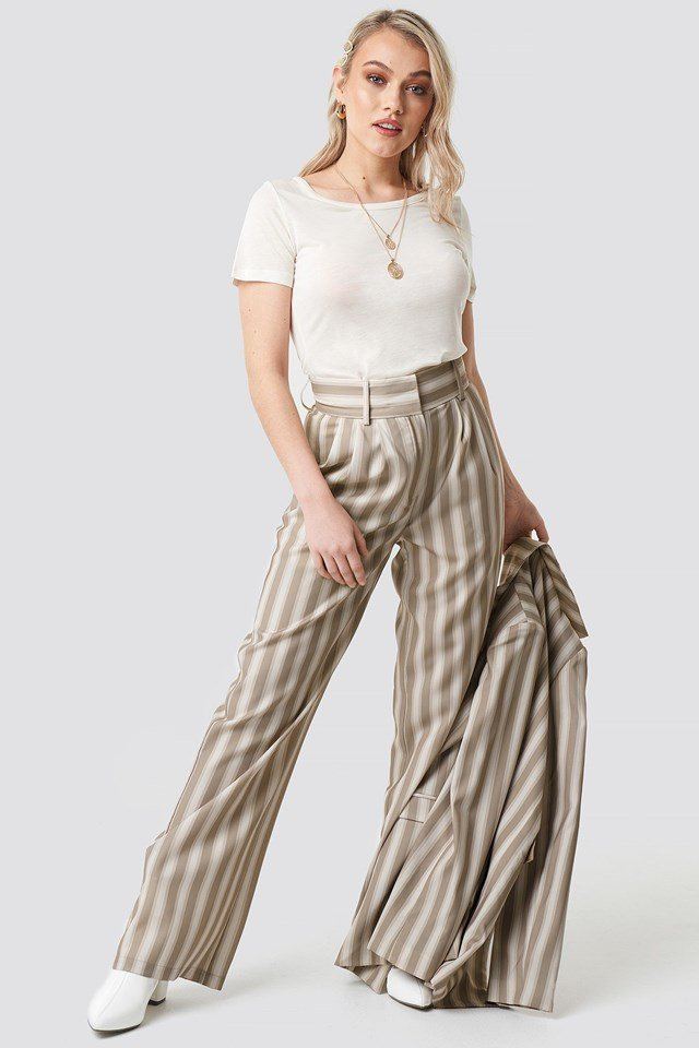 Tailored Striped Trousers Outfit