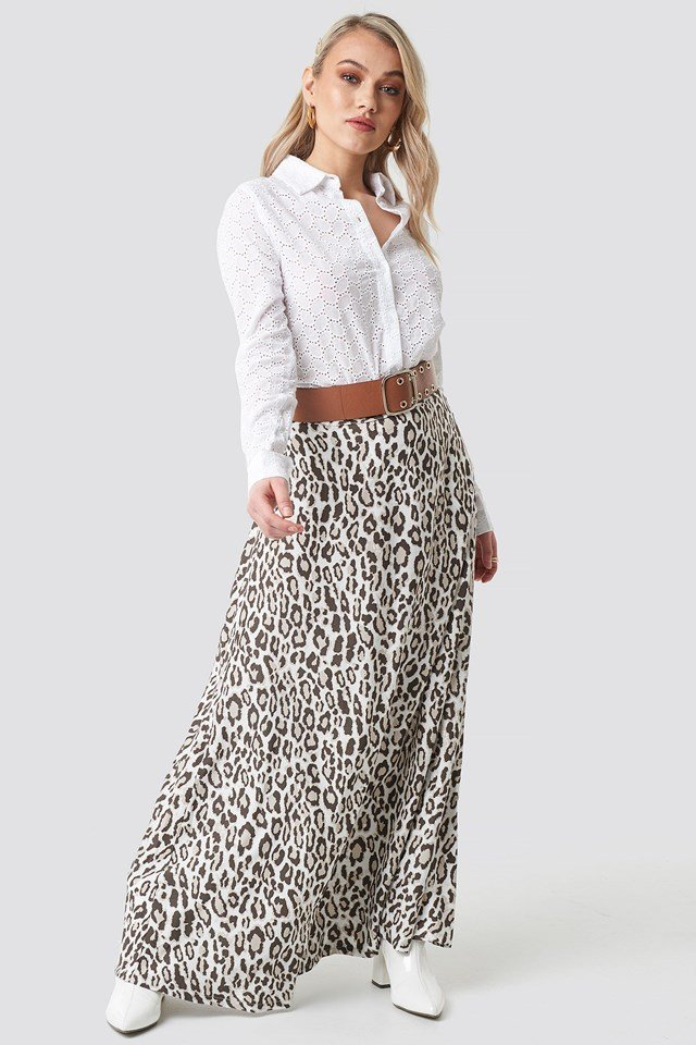 Leopard Maxi Skirt Outfit