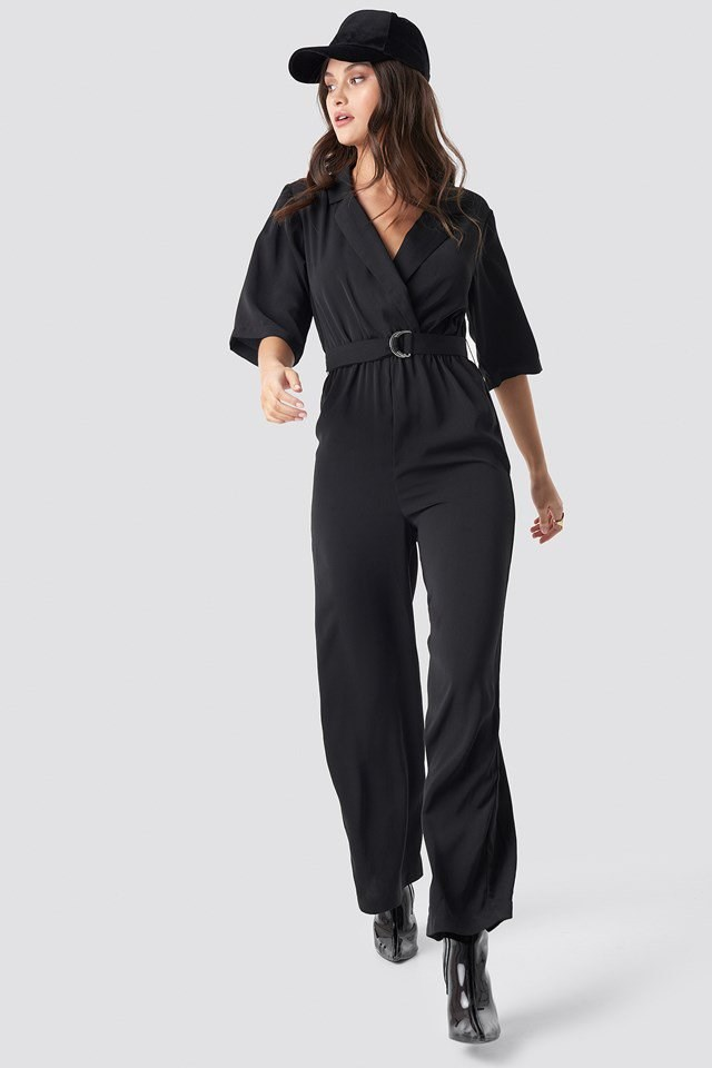 Belted jumpsuit outfit