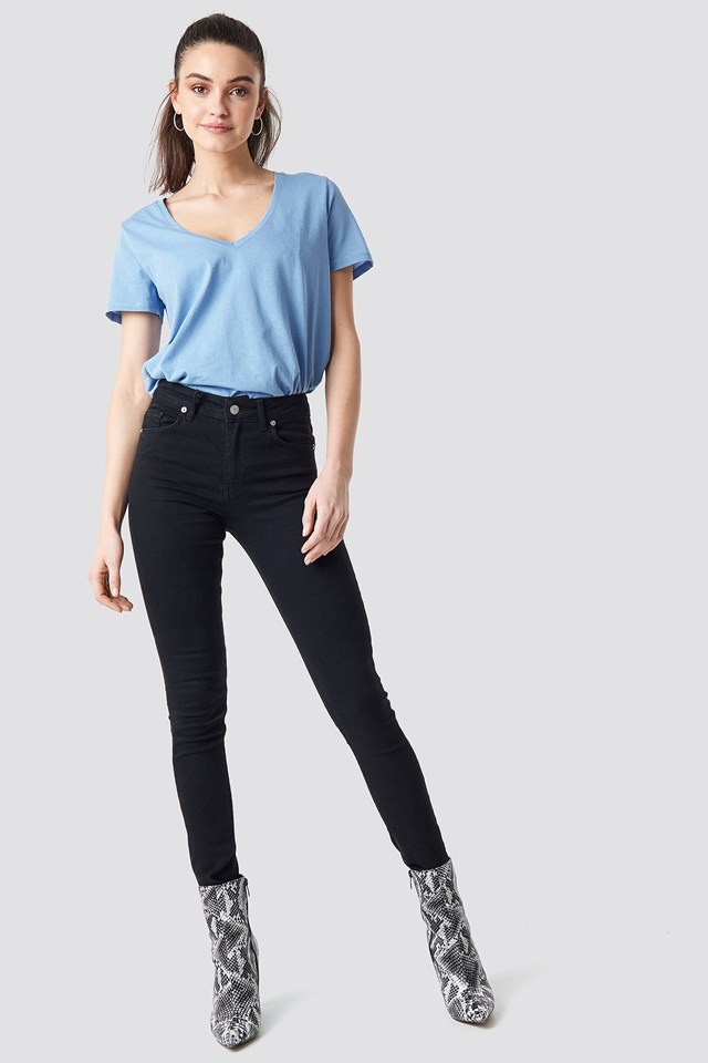 V-neck Tee Outfit