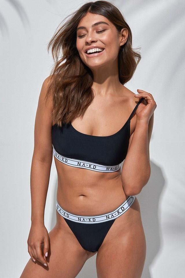 Logo Bralette Bikini Outfit