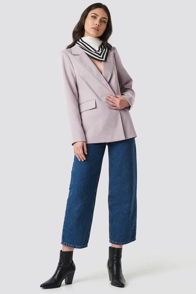 Asymmetric Blazer Outfit