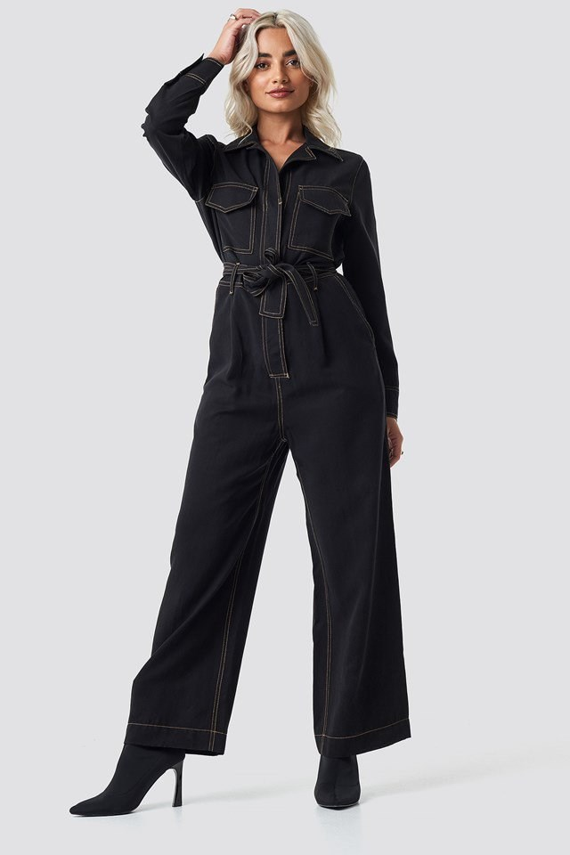 One-Piece Suit Mati Black Outfit