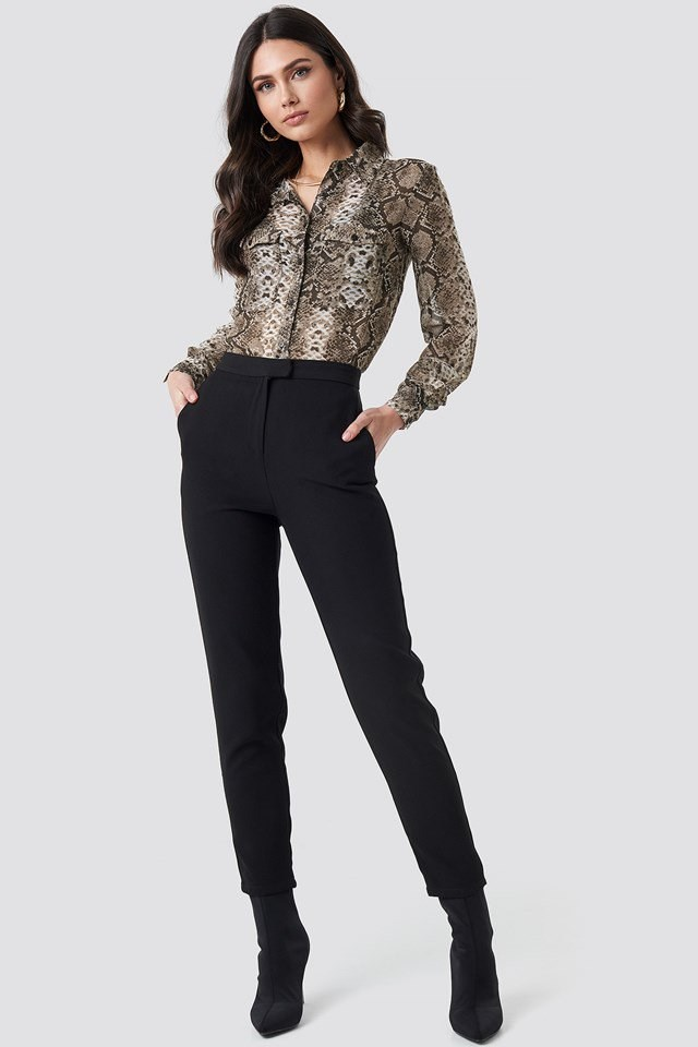 Snake Print Shirt Outfit