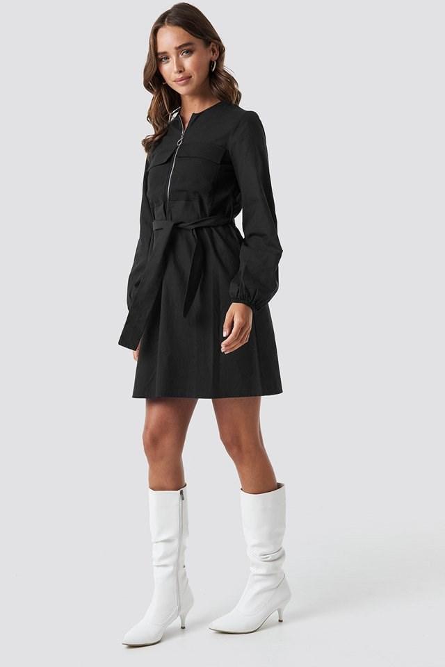Zipper Dress Outfit